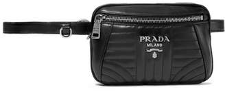 Prada Quilted Leather Belt Bag - Black