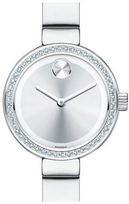 Women's Movado 'Bold' Diamond Bezel Bangle Watch, 25Mm $995 thestylecure.com