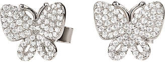 Folli Follie Wonderfly rhodium-plated sterling silver stud earrings