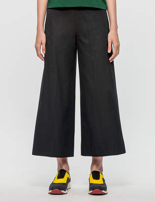 MSGM Wide Leg Cropped Pants
