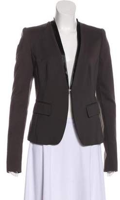 Pinko Collarless Long Sleeve Blazer