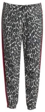Mother No Zip Misfit Leopard Side Stripe Joggers