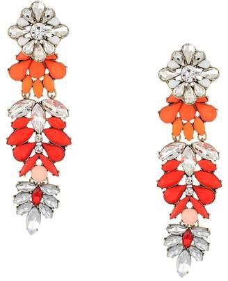 Steve Madden Floral Warm Jeweled Drop Earring Earring