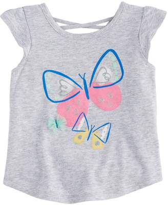 Baby Girl Jumping Beans Butterfly Flutter-Sleeved Tee