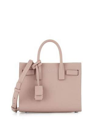 Saint Laurent Sac de Jour Nano Leather Satchel Bag, Pink $1,990 thestylecure.com