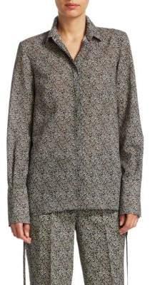 Akris Punto Crossroad Wool Button-Down Blouse