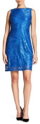 Sharagano Sleeveless Lace Dress (Petite)