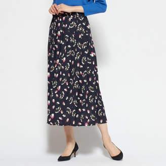 Flower Days (フラワーデイズ) - Flower Days フラワープリントプリーツスカート