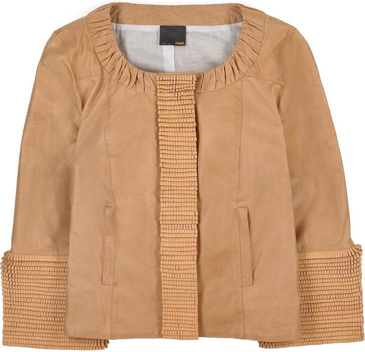 Fendi Cropped leather jacket