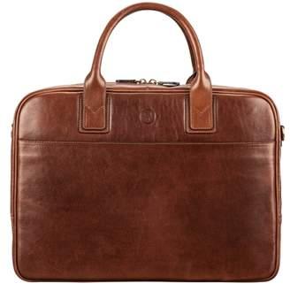 Maxwell Scott Bags Men S Tan Italian Leather Business Bag For Laptop