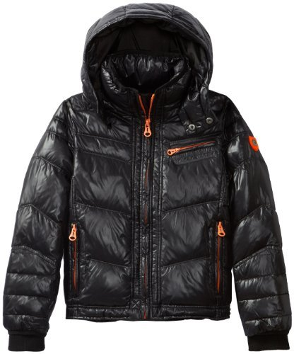 Diesel Boys 8-20 Jussy Nylon Down Hooded Jacket