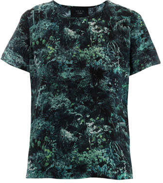 Lulu & Co Palm print silk top
