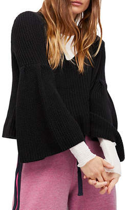 Free People Damsel Cotton Cropped Pullover