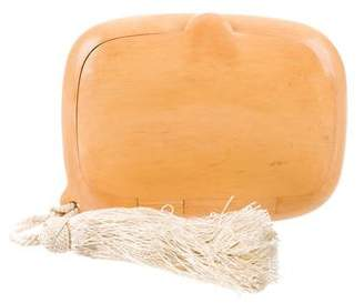 Fendi Wood Tassel Clutch