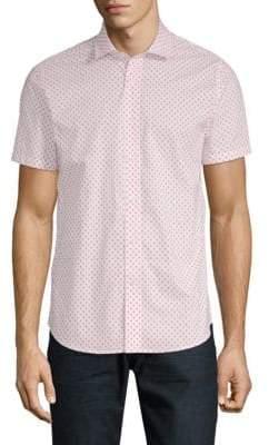 Slate & Stone Printed Short-Sleeve Cotton Button-Down Shirt