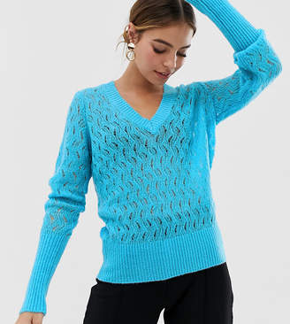 Y.A.S Petite V Neck Knitted Jumper