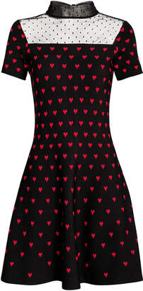 RED Valentino Jacquard Knit Heart Dress