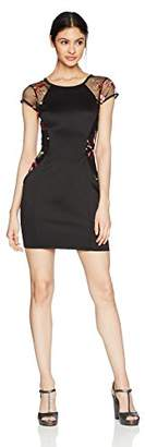 Amy Byer A. Byer Cap Sleeve Fitted Dress (Junior's)