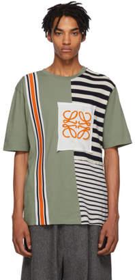 Loewe Green Rib Stripe T-Shirt
