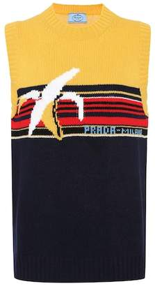 Prada Intarsia wool sweater vest