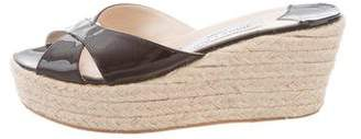Jimmy Choo Slide Espadrille Wedges