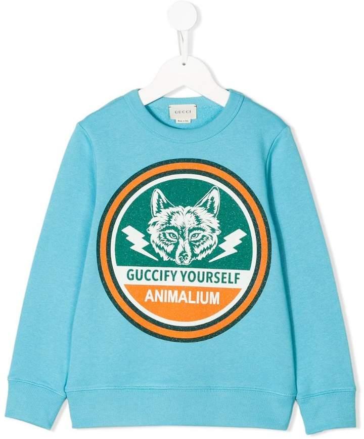 Gucci Kids Guccify Yourself collegiate sweatshirt