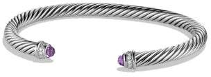 David Yurman Cable Classics Bracelet With Amethyst And Diamonds, 5Mm