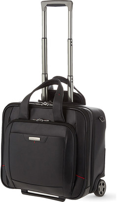 SAMSONITE Pro-DLX 4 two-wheel leather rolling tote $490 thestylecure.com