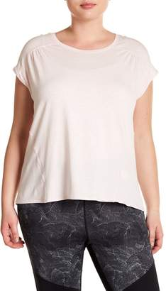 Zella Cascade Scoop Neck Tee (Plus Size)