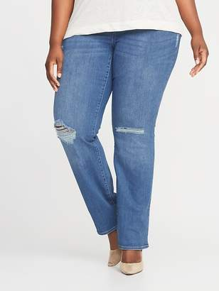 Old Navy High-Rise Plus-Size Rockstar Pull-On Boot-Cut Jeans