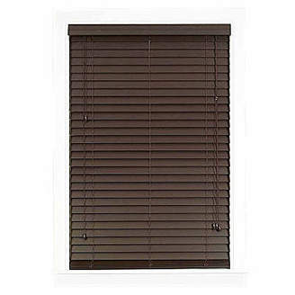 Asstd National Brand Madera Falsa 2 Faux Wood Horizontal Plantation Blinds