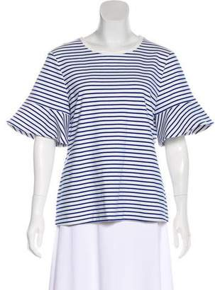 Draper James Striped Short Sleeve Top
