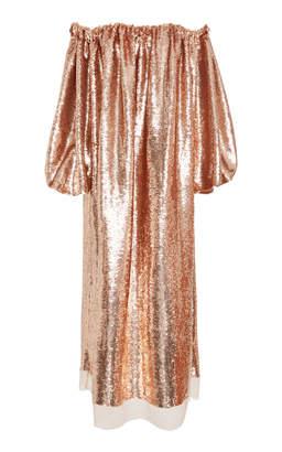 Ulla Johnson Fox Off-The-Shoulder Lurex Midi Dress