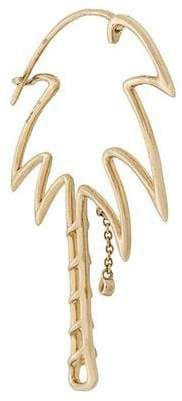 Leon Yvonne 9kt gold and diamond Palm Tree earring