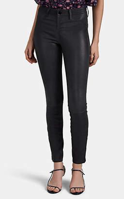 J Brand Women's Leather Skinny Jeans - Gray