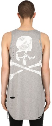 Faded Skull Distressed Jersey Tank Top