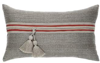 Textured Smoke Lumbar Pillow