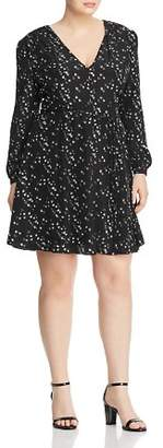 Glamorous CURVY Bird Print Belted Dress