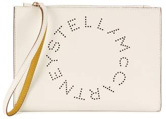 Stella McCartney Stella Logo Off White Clutch