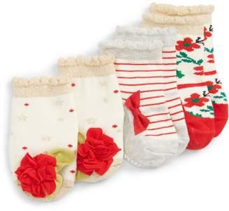 Mud Pie Christmas 3-Pack Socks