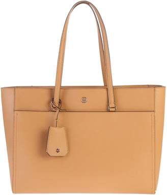 Tory Burch Beige Large Robinson Bag