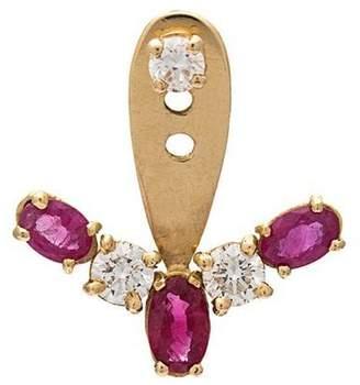 Leon Yvonne 18kt gold and diamond earring