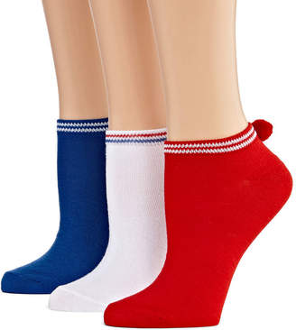 MIXIT Mixit 3 Pair Low Cut Socks - Womens