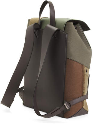Made In Spain Canvas Puzzle Backpack