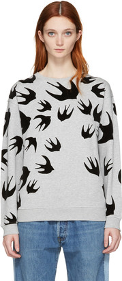 McQ Alexander McQueen Grey Swallow Pullover $330 thestylecure.com