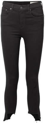 Rag & Bone The Capri Distressed High-rise Skinny Jeans