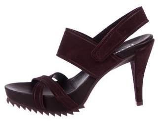 Pedro Garcia Suede Ankle Strap Sandals
