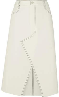 Dion Lee Shadow Stitch Bonded Crepe Midi Skirt - Ivory