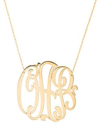 Jennifer Zeuner Jewelry Initial 'oab' Monogram Necklace silver Initial 'oab' Monogram Necklace