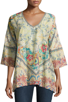 Johnny Was Dunes Floral-Print Top, Multi Pattern $139 thestylecure.com